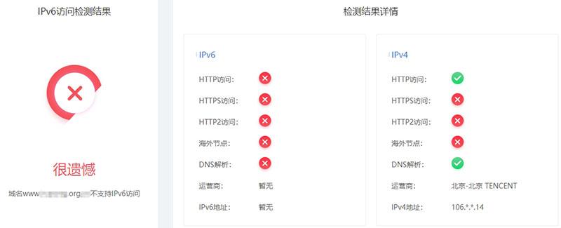 IPV6检测结果