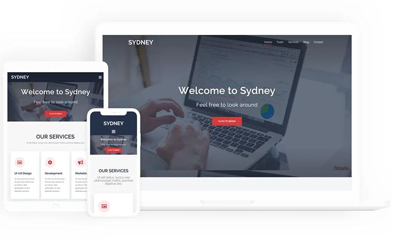 Sydney企业网站模板 国外wordpress主题推荐